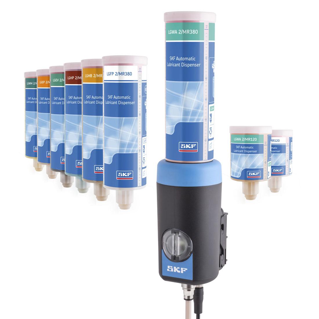 SKF heeft verschillende oplossingen voor de smering van uw lager. Zo ook deze automatische smeermiddeldispenser.