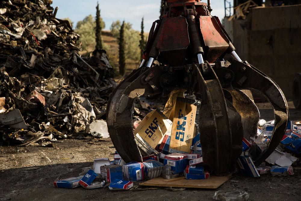 Afbeelding Schipper Technisch Handelsburo Vijftien ton namaaklagers vernietigd door SKF