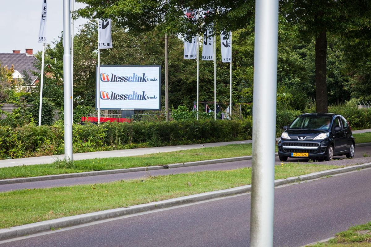 Afbeelding Schipper Technisch Handelsburo LED-scherm op aanhanger – LEUS Verkeersopleidingen