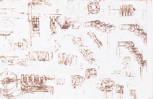 De eerste schetsen van Da Vinci