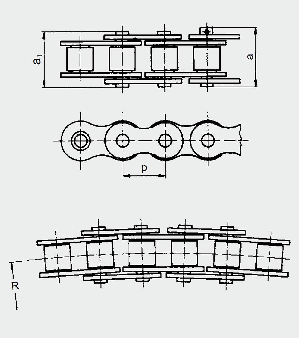 Sidebow ketting (bron: IWIS)